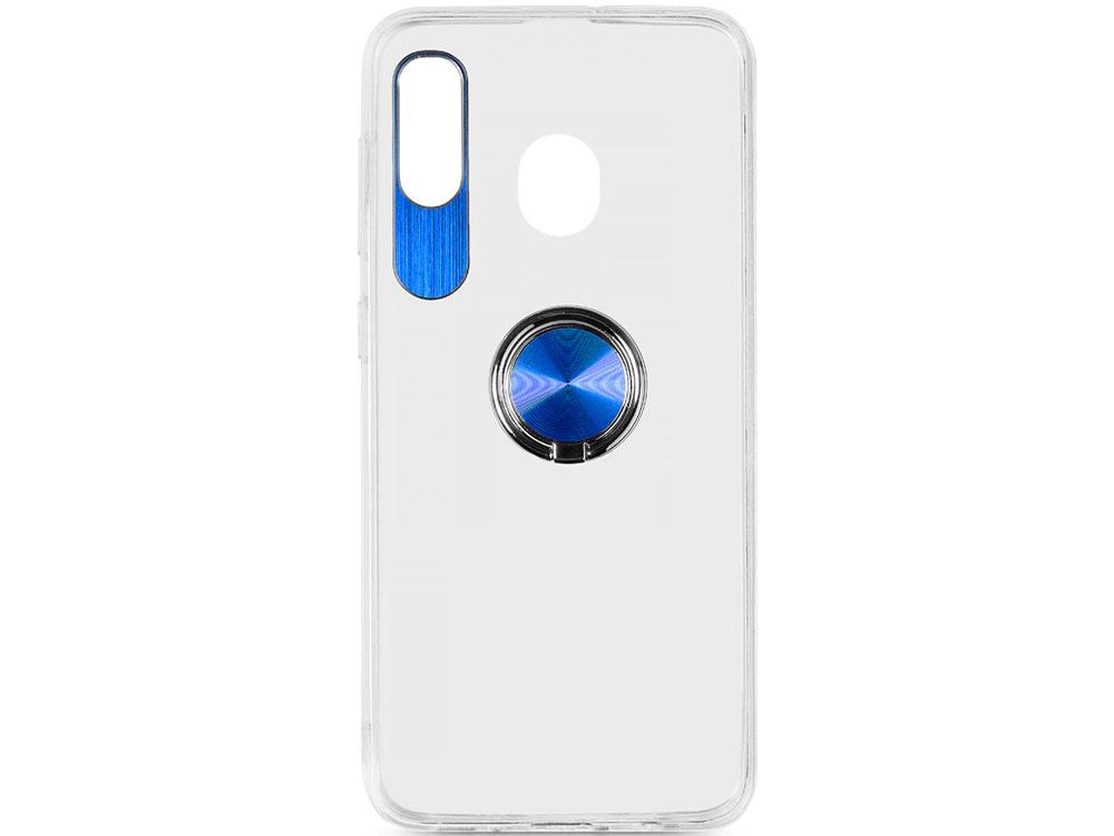 Чехол с кольцом-держателем для Samsung Galaxy A20/A30 DF sTRing-02 (blue) аккумулятор для телефона craftmann ba611 для meizu m5