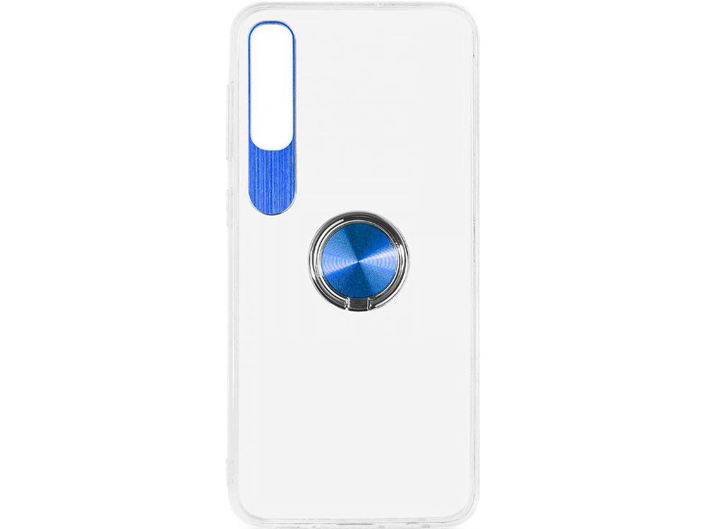 Чехол с кольцом-держателем для Samsung Galaxy A50 DF sTRing-04 (blue) цена и фото