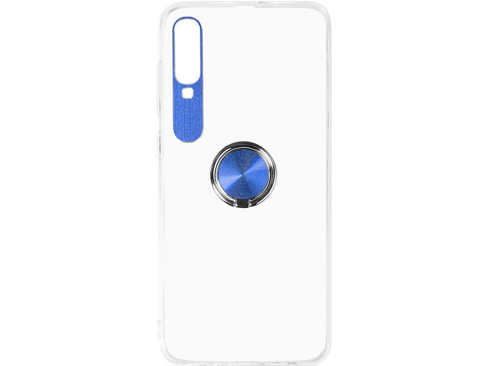 Чехол с кольцом-держателем для Samsung Galaxy A70 DF sTRing-05 (blue) фото