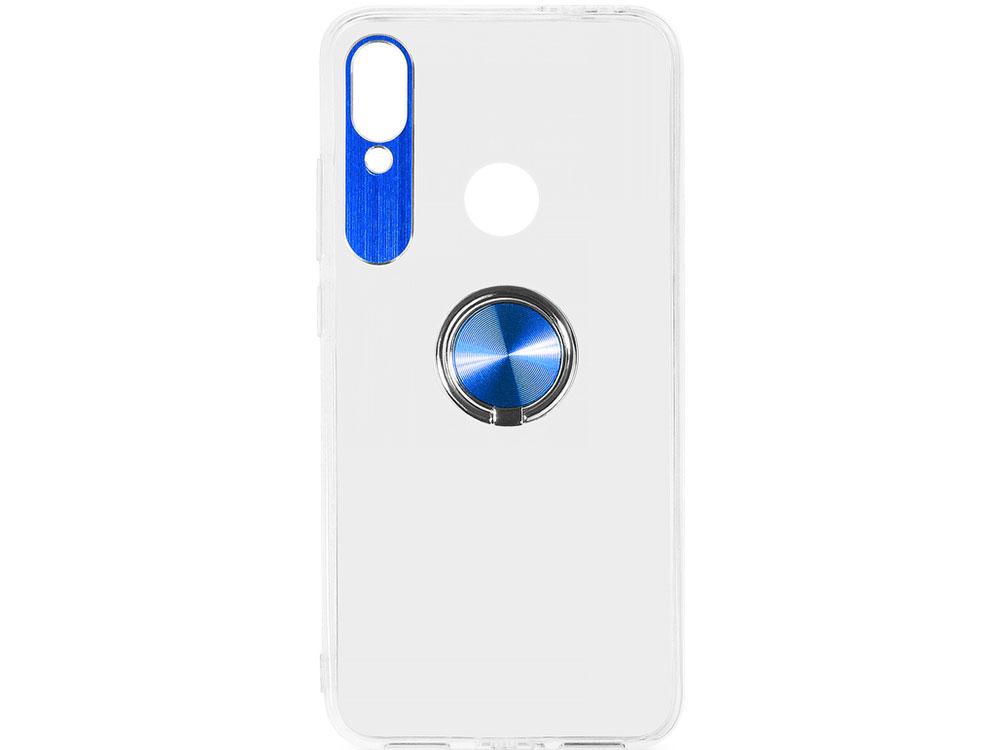 купить Чехол с кольцом-держателем для Xiaomi Redmi 7 DF xiTRing-03 (blue) по цене 290 рублей