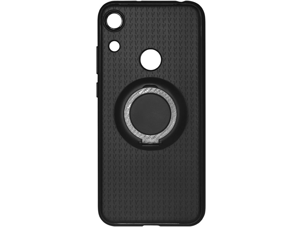 Чехол с кольцом-держателем для Huawei Honor 8A DF hwBlackRing-01 (black) дисплей monitor для huawei honor 6 black 2686