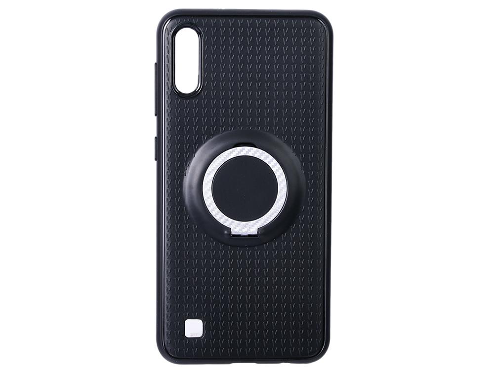 цена на Чехол с кольцом-держателем для Samsung Galaxy A10 DF sBlackRing-01 (black)
