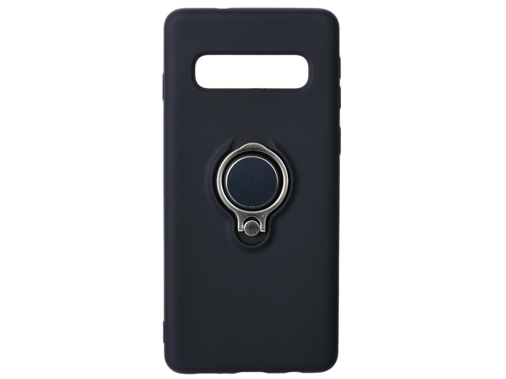 цена на Чехол с кольцом-держателем для Samsung Galaxy S10 DF sRing-01 (black)