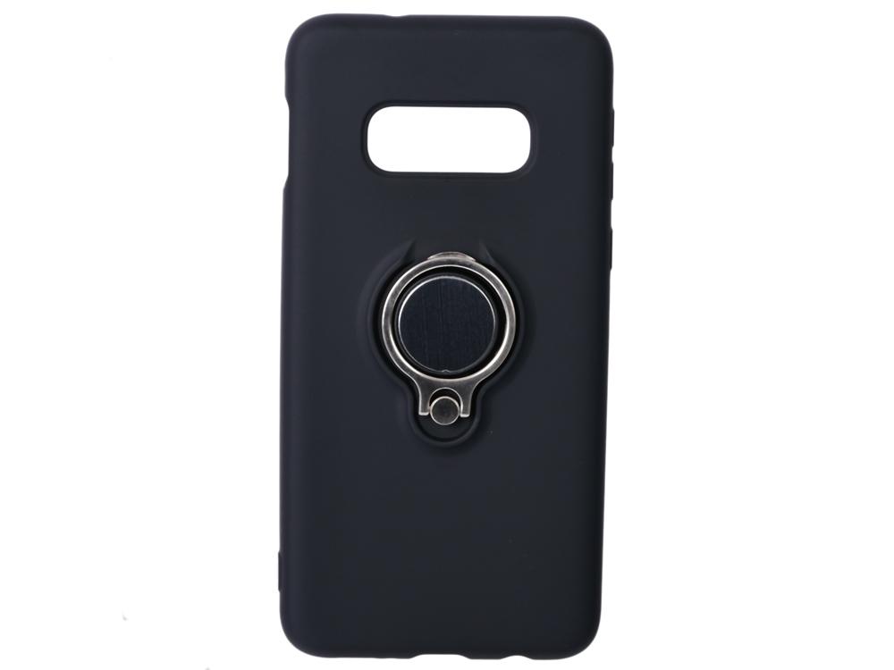Фото - Чехол с кольцом-держателем для Samsung Galaxy S10e DF sRing-02 (black) чехол