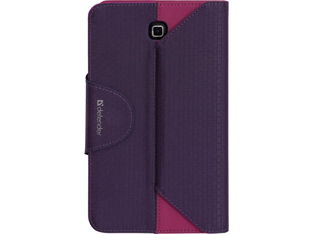 Чехол для планшета Samsung Galaxy Tab4 7 Фиолетовый/Розовый Чехол-книжка, Текстиль чехол portcase tbt 270 vt универсальный для планшета 7 фиолетовый