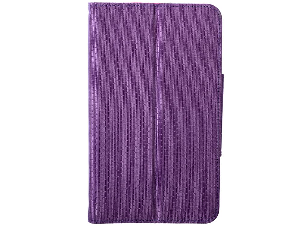Фото - Чехол для планшета Samsung Galaxy Tab4 7 Фиолетовый/Розовый Чехол-книжка, Текстиль чехол