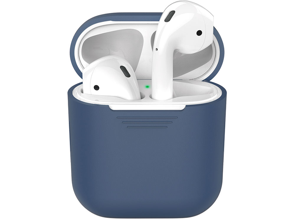Силиконовый чехол Deppa для AirPods, синий силиконовый чехол для airpods синий deppa
