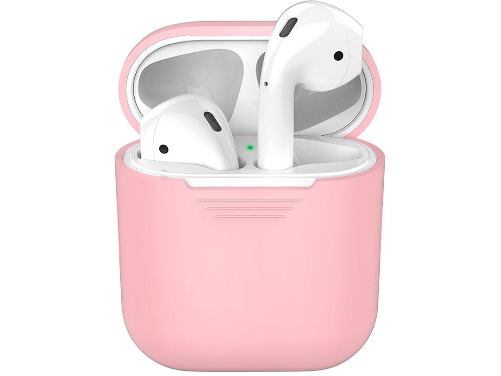 Силиконовый чехол Deppa для AirPods, розовый силиконовый чехол для airpods синий deppa