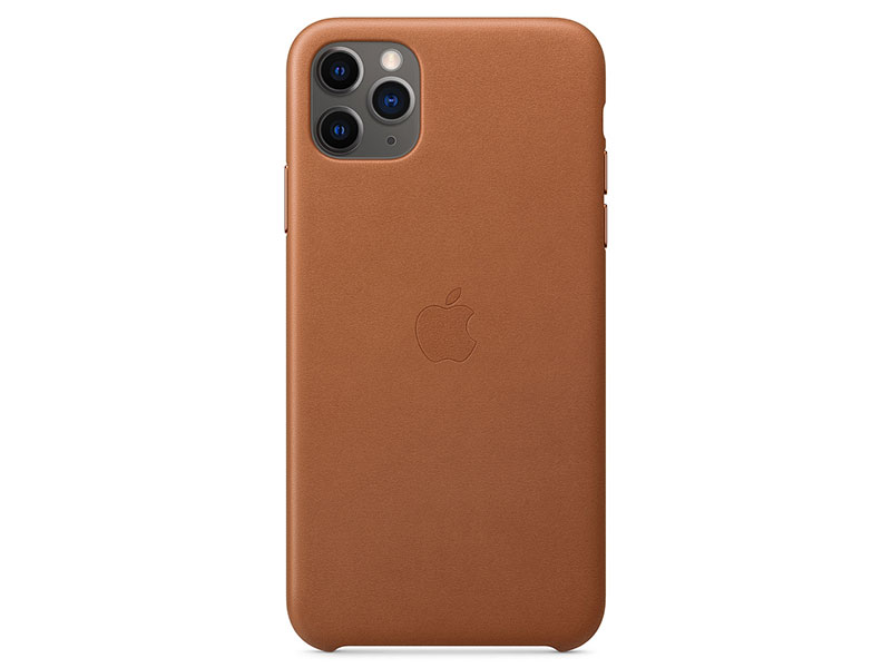 Чехол-накладка для iPhone 11 Pro Max Apple Leather Case Saddle Brown клип-кейс, кожа стоимость