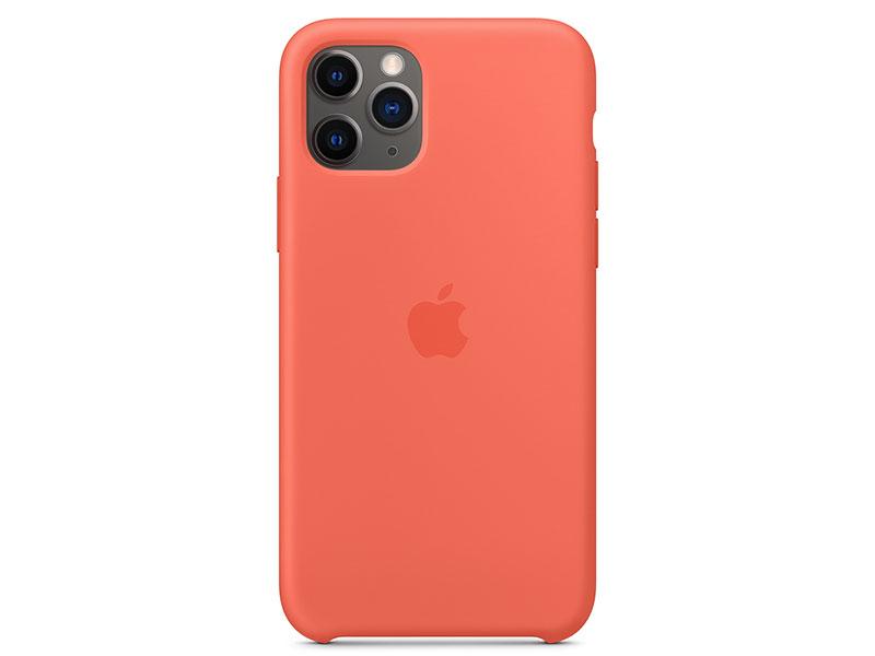 Чехол-накладка для iPhone 11 Pro Apple Silicone Case Clementine клип-кейс, силикон oldshark 0 4x универсальный супер широкий угол объектива камеры клип на комплект для iphone