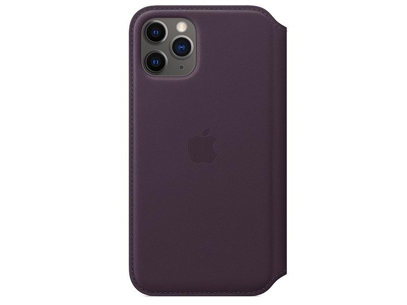 Чехол-книжка для iPhone 11 Pro Apple Leather Folio Aubergine книжка, кожа стоимость