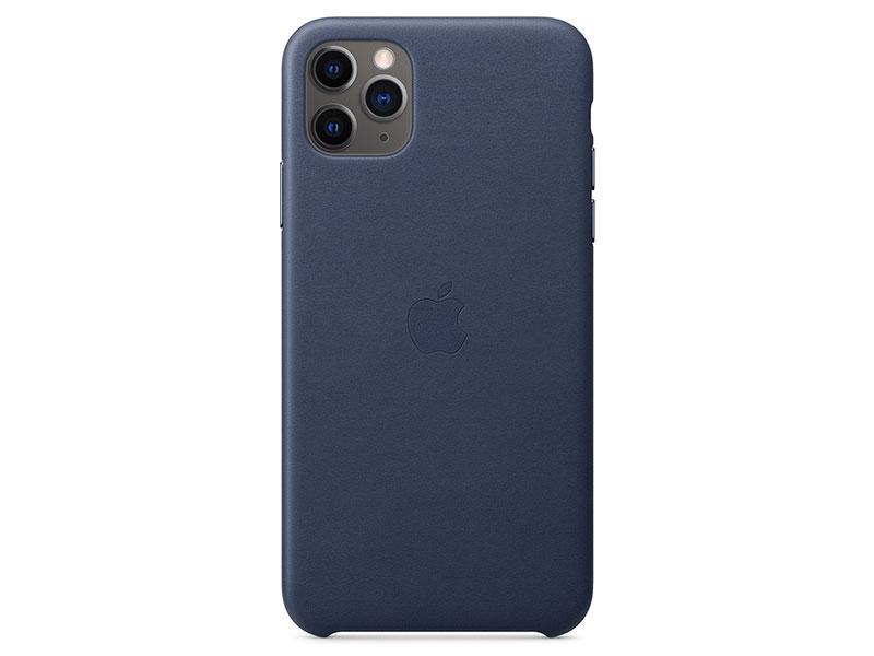 цена на Чехол-накладка для iPhone 11 Pro Max Apple Leather Case Midnight Blue клип-кейс, кожа