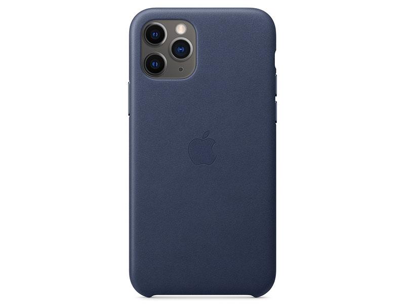 цена на Чехол-накладка для iPhone 11 Pro Apple Leather Case Blue клип-кейс, кожа