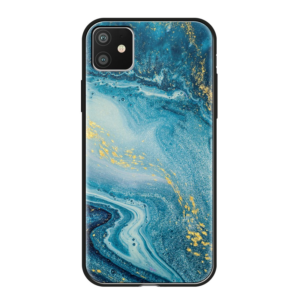 Чехол для смартфона для Apple iPhone 11 Deppa Glass Case 87260 w/print клип-кейс, полиуретан, поликарбонат, стекло фото