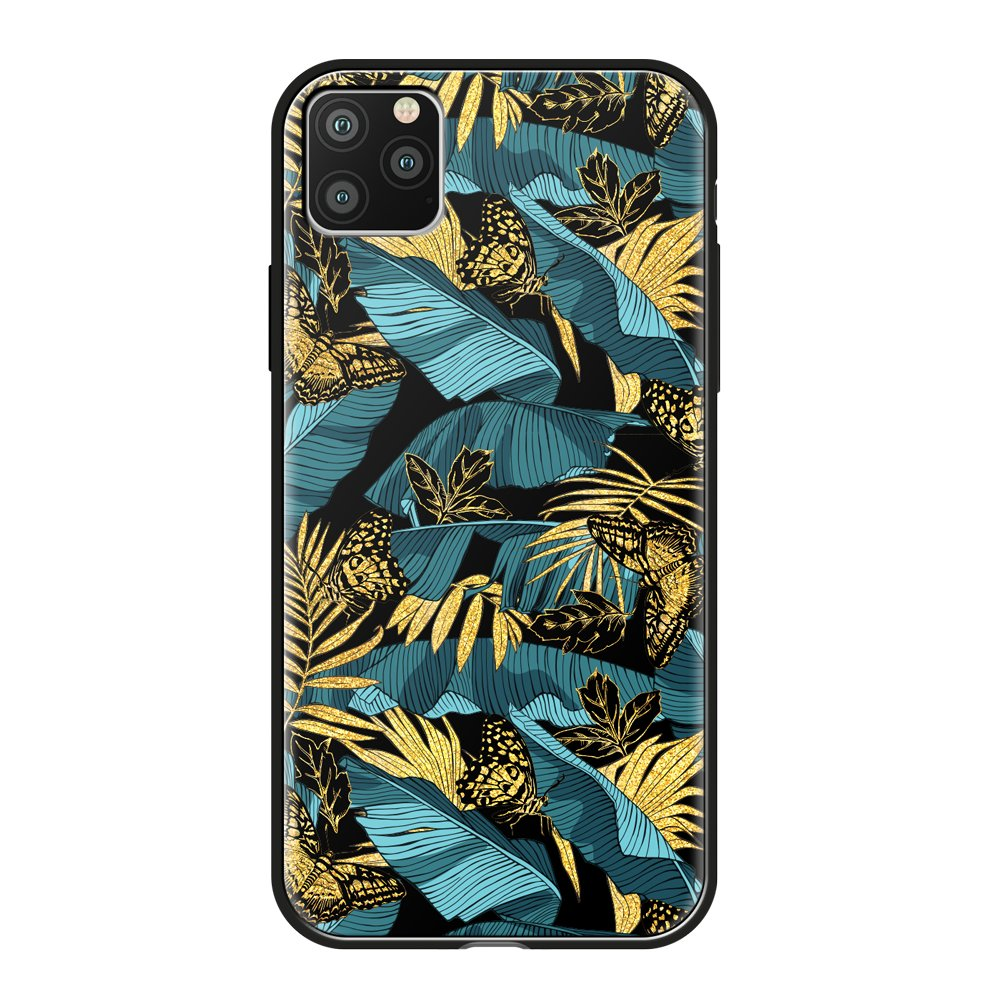 Чехол для смартфона для Apple iPhone 11 Pro Max Deppa Glass Case 87268 w/print клип-кейс, полиуретан, поликарбонат, стекло flower print card case