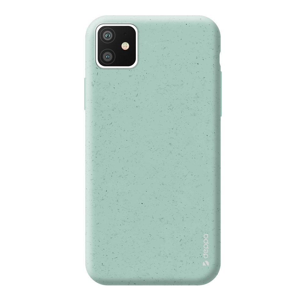 Чехол для смартфона для Apple iPhone 11 Deppa Eco Case 87281 Green клип-кейс, полиуретан клип кейс ideal iphone x champagne birds