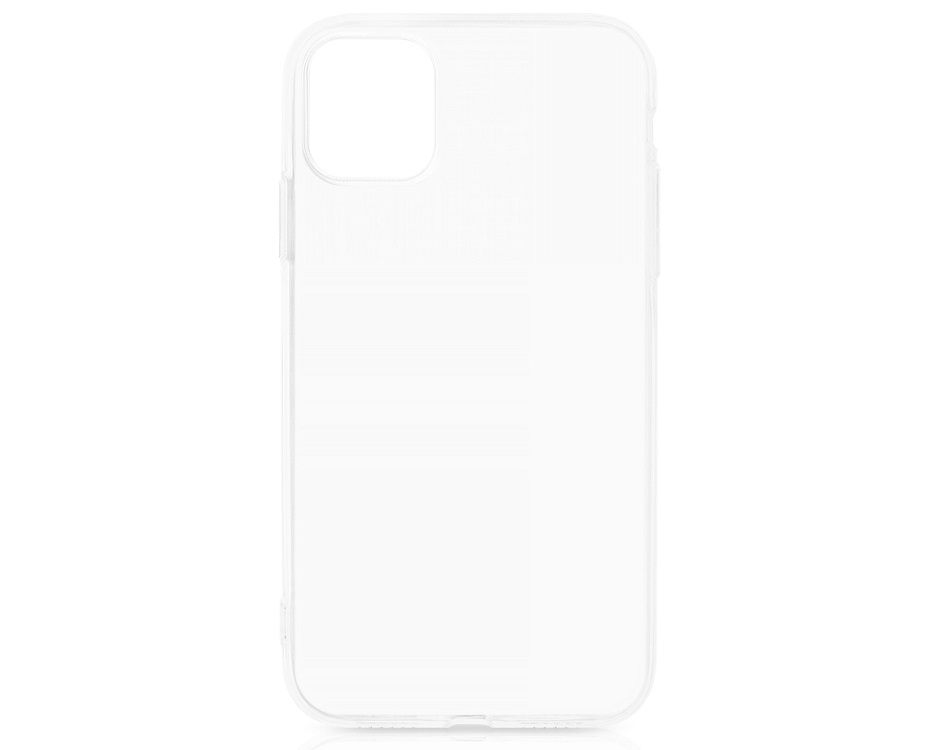 Чехол-накладка для Apple iPhone 11 DF iCase-15 Transparent клип-кейс, полиуретан чехол накладка для samsung galaxy note 10 df scase 81 transparent клип кейс полиуретан