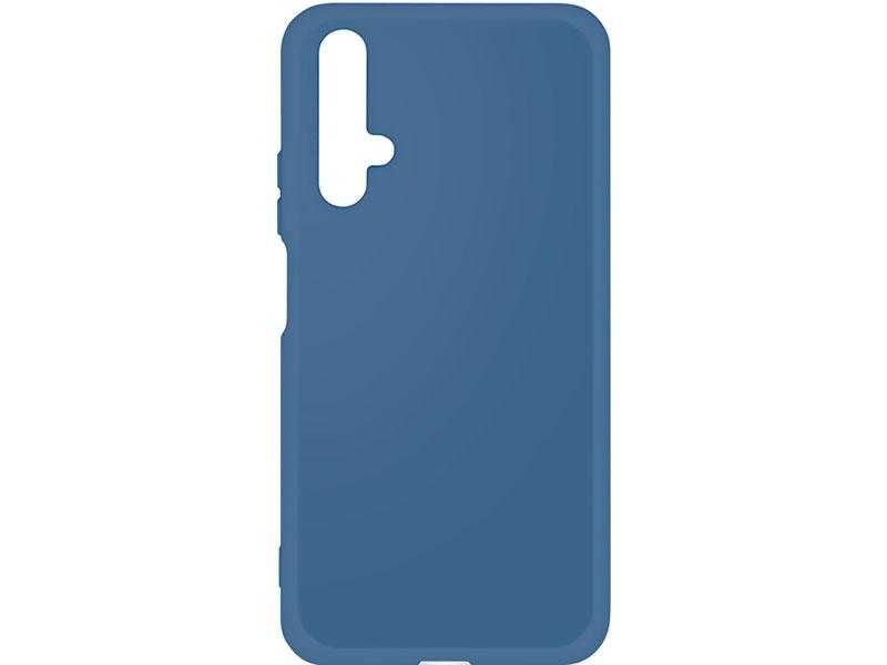 Чехол-накладка для Honor 20 DF hwOriginal-01 Blue клип-кейс, силикон, микрофибра наматрасник силикон микрофибра 80х200 см