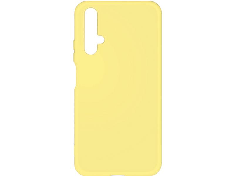 Чехол-накладка для Honor 20 DF hwOriginal-01 Yellow клип-кейс, силикон, микрофибра наматрасник силикон микрофибра 80х200 см
