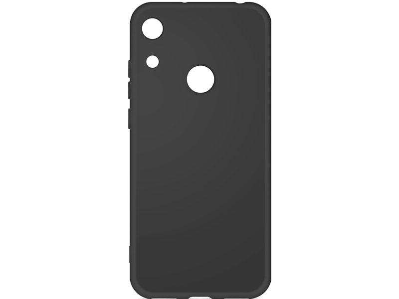 Чехол-накладка для Honor 8A / 8A Pro DF hwOriginal-03 Black клип-кейс, силикон, микрофибра клип кейс tfn honor 8a tpu blue