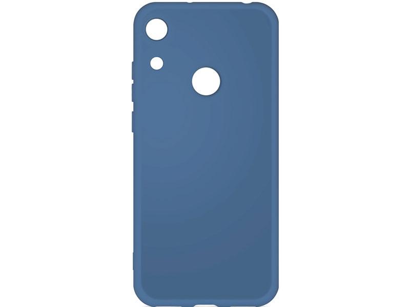 Чехол-накладка для Honor 8A / 8A Pro DF hwOriginal-03 Blue клип-кейс, силикон клип кейс tfn honor 8a tpu blue