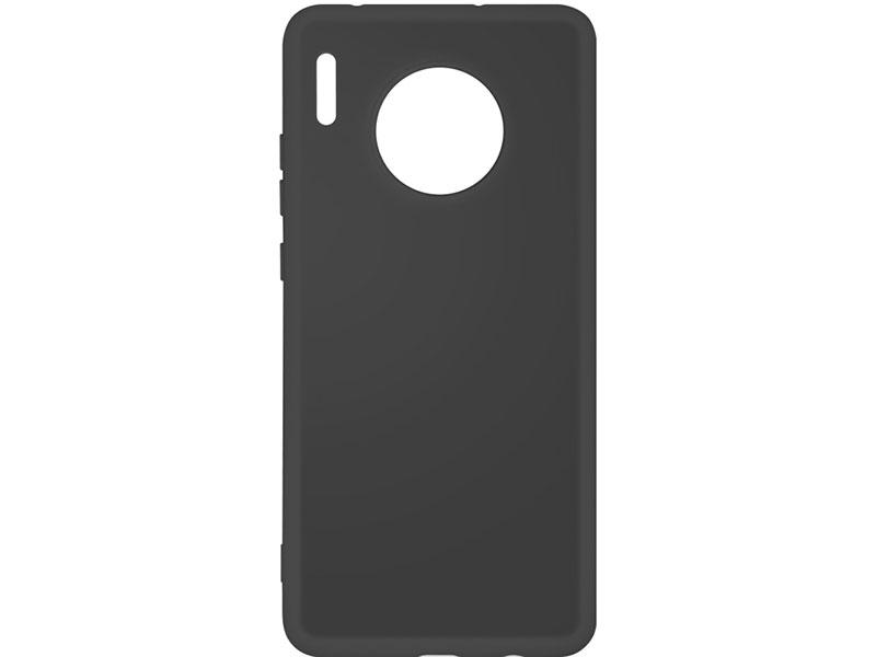 Чехол-накладка для Huawei Mate 30 DF hwOriginal-05 Black клип-кейс, силикон, микрофибра клип кейс tfn huawei y6 2019 пластик black