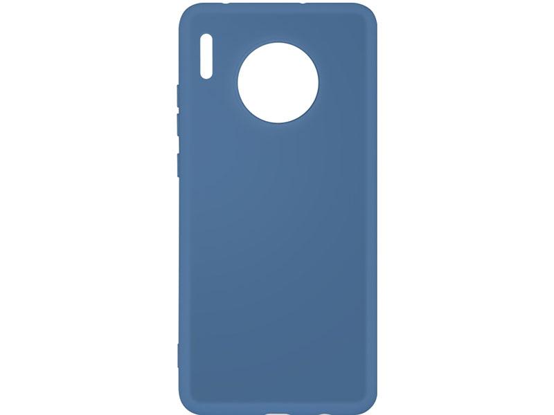 Чехол-накладка для Huawei Mate 30 DF hwOriginal-05 Blue клип-кейс, силикон, микрофибра чехол для мобильных телефонов floveme huawei 7 ascend for mate mate7