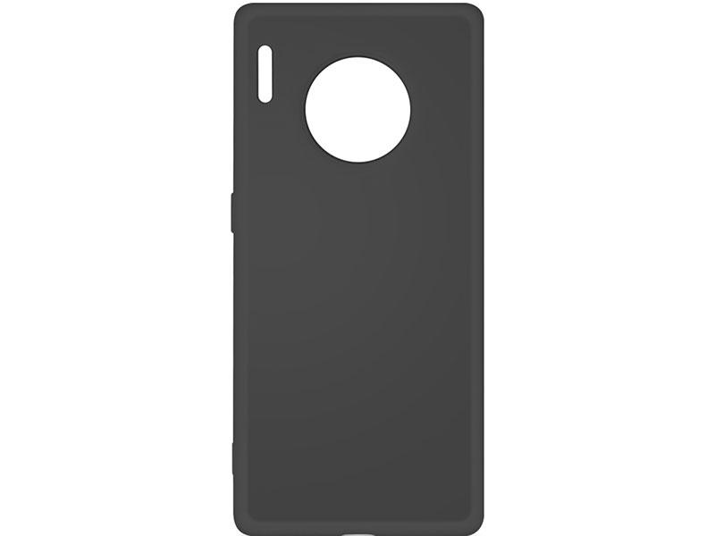 Чехол-накладка для Huawei Mate 30 Pro DF hwOriginal-06 Black клип-кейс, силикон, микрофибра клип кейс tfn huawei y6 2019 пластик black