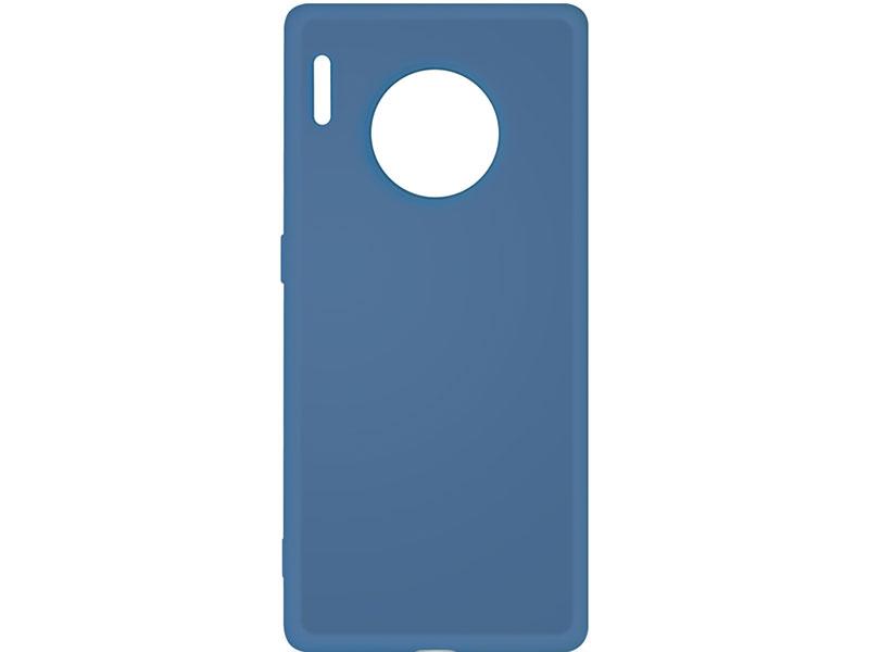 Чехол-накладка для Huawei Mate 30 Pro DF hwOriginal-06 Blue клип-кейс, силикон, микрофибра чехол для сотового телефона gurdini накладка силикон soft touch для huawei y7 pro 2019 черный