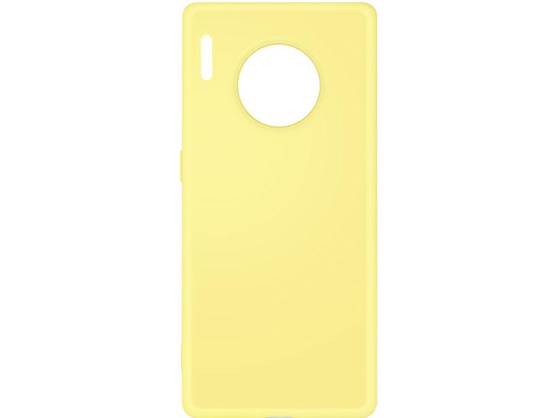 Чехол-накладка для Huawei Mate 30 Pro DF hwOriginal-06 Yellow клип-кейс, силикон, микрофибра чехол для мобильных телефонов floveme huawei 7 ascend for mate mate7