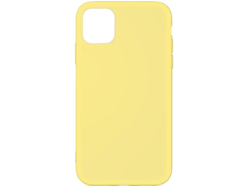 Силиконовый чехол с микрофиброй для iPhone 11 Pro Max DF iOriginal-03 (yellow) клип-кейс, силикон, микрофибра
