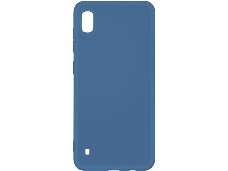Чехол-накладка для Samsung Galaxy A10 DF sOriginal-01 Blue клип-кейс, силикон, микрофибра аксессуар чехол df для samsung galaxy a10s soriginal 04 blue