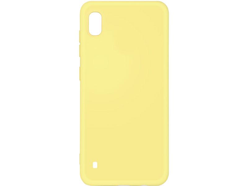 Чехол-накладка для Samsung Galaxy A10 DF sOriginal-01 Yellow клип-кейс, силикон, микрофибра аксессуар чехол df для samsung galaxy a10s soriginal 04 blue