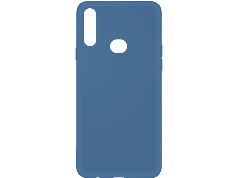 Чехол-накладка для Samsung Galaxy A10s DF sOriginal-04 Blue клип-кейс, силикон, микрофибра аксессуар чехол df для samsung galaxy a10s soriginal 04 blue