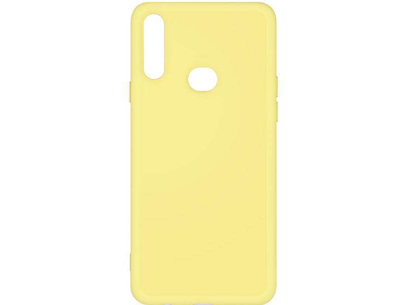 Чехол-накладка для Samsung Galaxy A10s DF sOriginal-04 Yellow клип-кейс, силикон, микрофибра аксессуар чехол df для samsung galaxy a10s soriginal 04 blue
