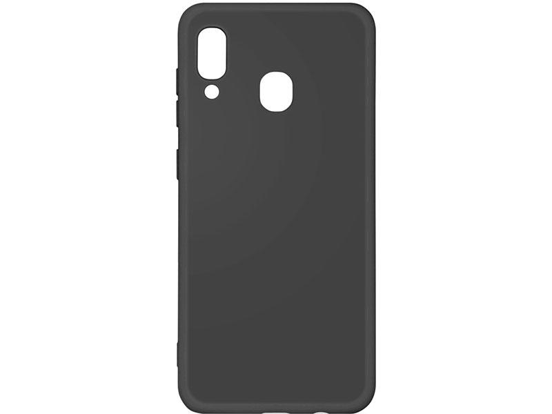 Чехол-накладка для Samsung Galaxy A20/A30 DF sOriginal-02 Black клип-кейс, силикон, микрофибра аксессуар чехол df для samsung galaxy a10s soriginal 04 blue