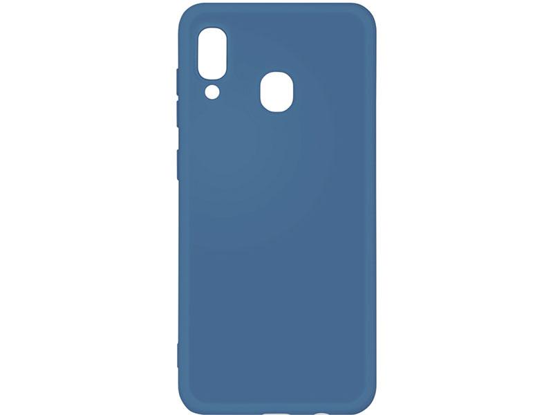 Чехол-накладка для Samsung Galaxy A20/A30 DF sOriginal-02 Blue клип-кейс, силикон, микрофибра аксессуар чехол df для samsung galaxy a10s soriginal 04 blue