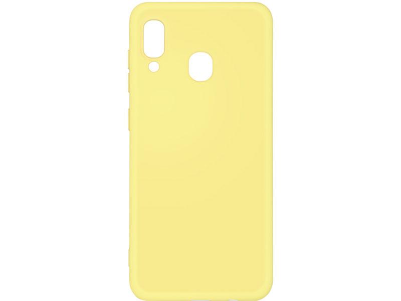 Чехол-накладка для Samsung Galaxy A20/A30 DF sOriginal-02 Yellow клип-кейс, силикон, микрофибра аксессуар чехол df для samsung galaxy a10s soriginal 04 blue
