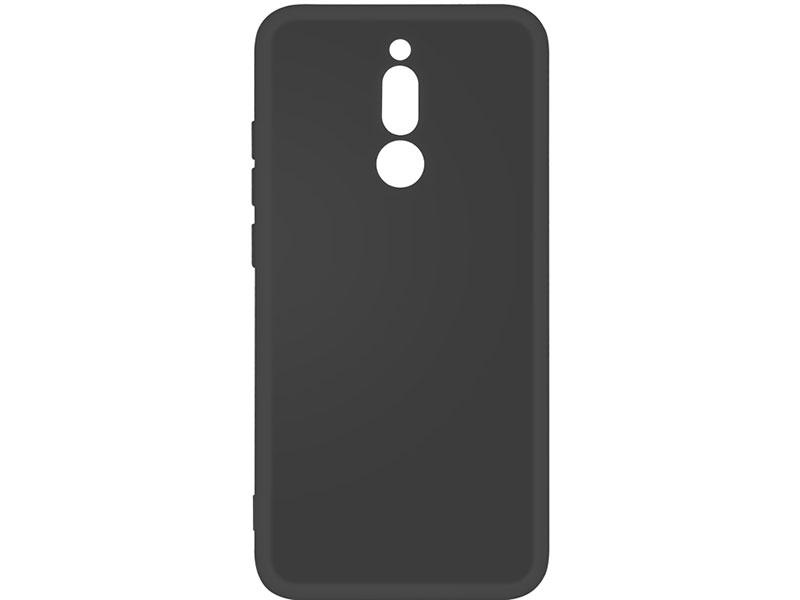 Чехол-накладка для Xiaomi Redmi 8 DF xiOriginal-05 Black клип-кейс, силикон, микрофибра