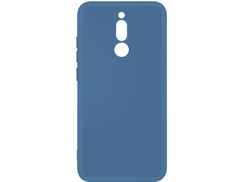Чехол-накладка для Xiaomi Redmi 8 DF xiOriginal-05 Blue клип-кейс, силикон, микрофибра