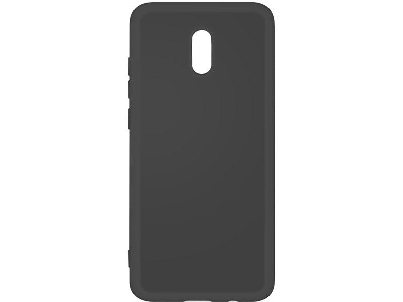 Чехол-накладка для Xiaomi Redmi 8A DF xiOriginal-04 Black клип-кейс, силикон, микрофибра