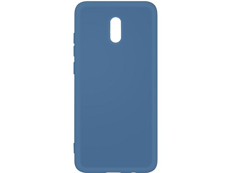 Чехол-накладка для Xiaomi Redmi 8A DF xiOriginal-04 Blue клип-кейс, силикон, микрофибра