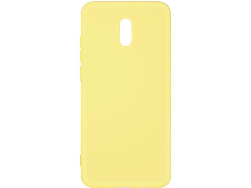 Чехол-накладка для Xiaomi Redmi 8A DF xiOriginal-04 Yellow клип-кейс, силикон, микрофибра