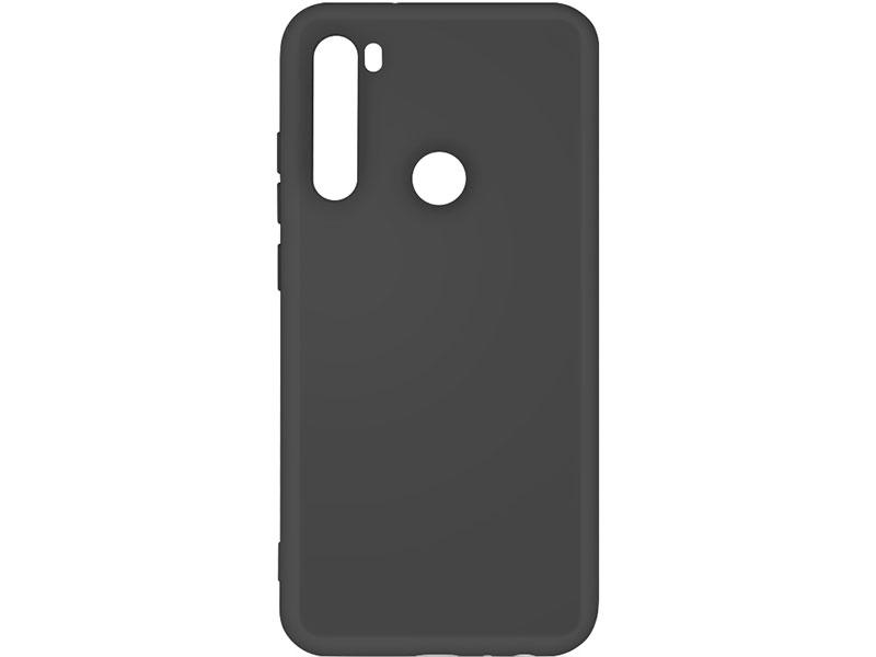 Чехол-накладка для Xiaomi Redmi Note 8 DF xiOriginal-02 Black клип-кейс, силикон, микрофибра