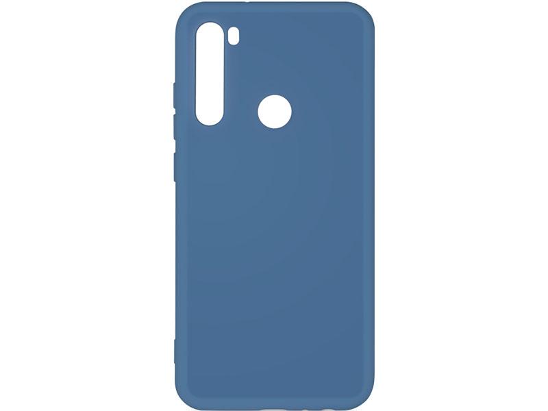 Чехол-накладка для Xiaomi Redmi Note 8 DF xiOriginal-02 Blue клип-кейс, силикон, микрофибра
