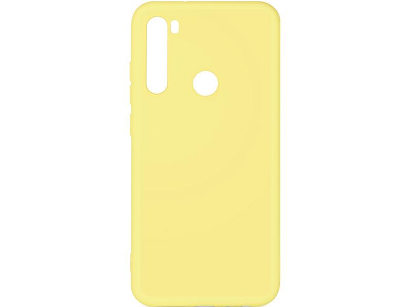 Чехол-накладка для Xiaomi Redmi Note 8 DF xiOriginal-02 Yellow клип-кейс, силикон, микрофибра