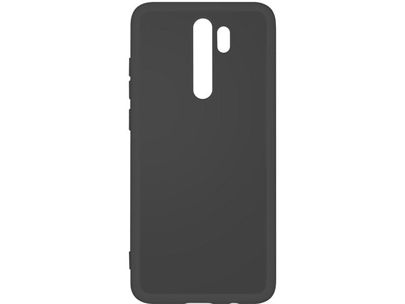 Чехол-накладка для Xiaomi Redmi Note 8 Pro DF xiOriginal-03 Black клип-кейс, силикон, микрофибра аксессуар чехол накладка xiaomi mi note 3 gurdini high tech silicone matt black