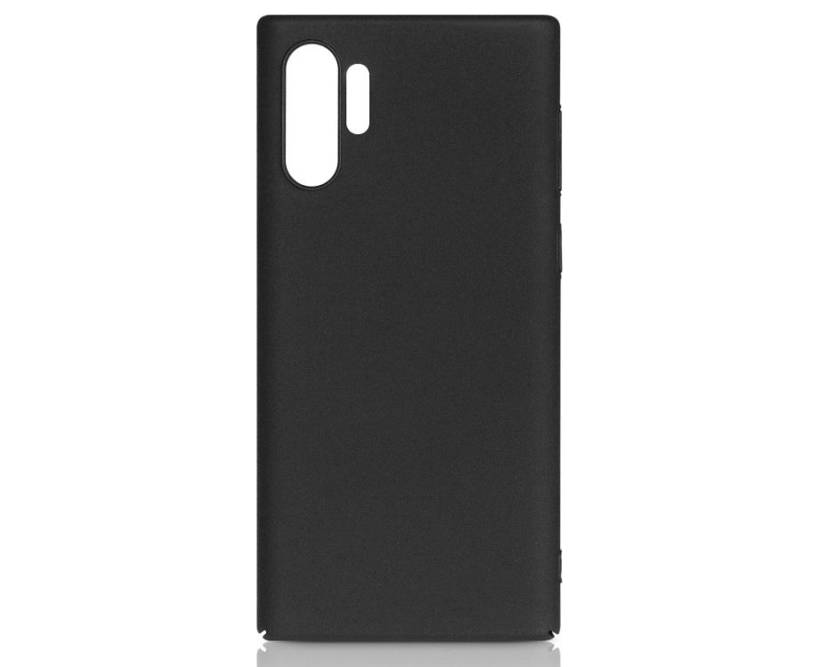 Чехол-накладка для Samsung Galaxy Note 10+ DF sSlim-40 Black клип-кейс, пластик цена в Москве и Питере