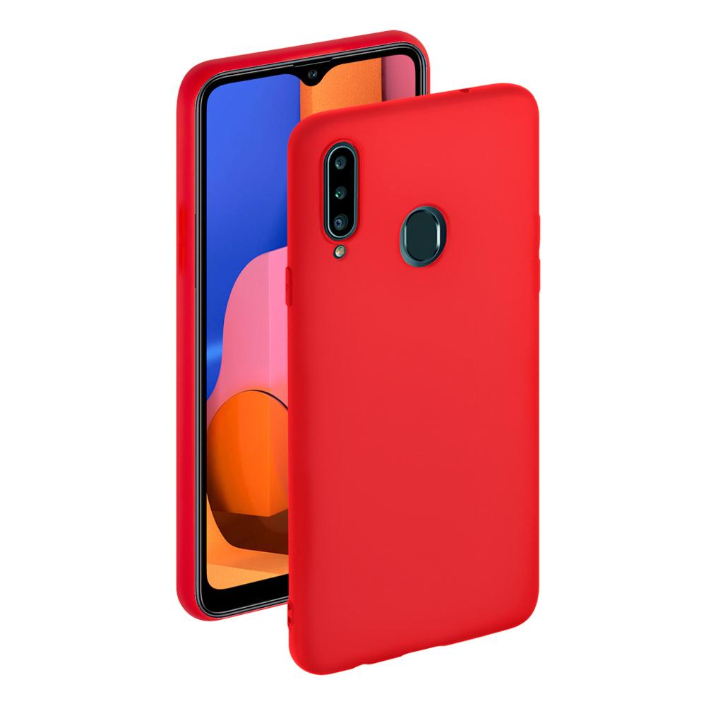 Чехол для смартфона для Samsung Galaxy A20s Deppa Gel Color Case Red 87386 клип-кейс, полиуретан клип кейс deppa samsung galaxy j4 plus tpu black