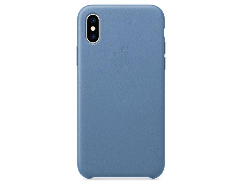 Чехол-накладка для iPhone XS Apple Leather Case Cornflower клип-кейс, кожа накладка apple leather case для iphone 7 красный mmy62zm a